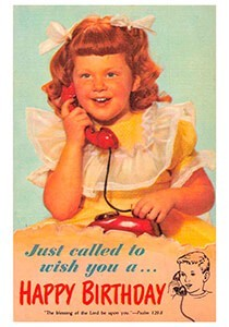 A.N.B. -Just called to wish you a happy birthday- Postkaart