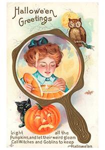 Anonymus -Halloween greetings- Postkaart