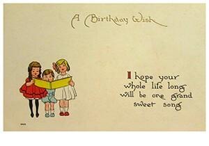 A.N.B. -A birthday wish- Postkaart