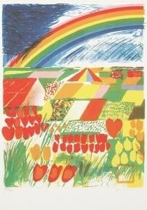 Jan Cremer (1940) -Tulip country nr.2- Postkaart