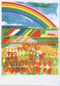 Jan Cremer (1940) -Tulip country nr 1- Postkaart