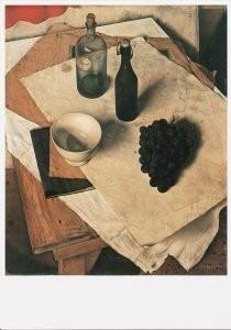 Dick Ket (1902-1940) -Stilleven met druiventros- Postkaart