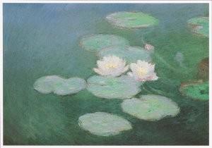 Claude Monet (1840-1926) -Nympheas, effet du soir- Postkaart