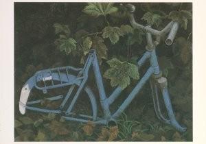 Hermanus Berserik (1921-2002) -Oude fiets- Postkaart