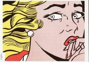 Roy Lichtenstein (1923-1997) -The Crying girl, 1963- Postkaart