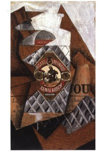 Juan Gris (1887-1927) -De fles anijslikeur- Postkaart
