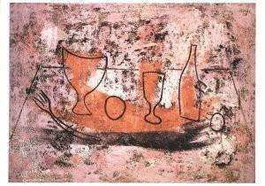 Francisco Bores (1898-1972) -Stilleven op de muur- Postkaart