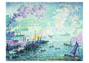 Paul Signac (1863-1935) -Haven Rotterdam- Postkaart