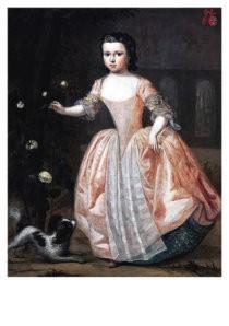 P. F. de la Croix (1709-1782) -Meisjes port.- Postkaart