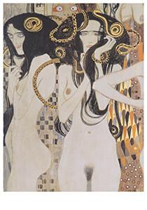 Gustav Klimt (1862-1918) -Der wohlgerüstete Starke, 1902- Postkaart