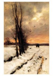 Anton Mauve (1838-1888) -Sneeuwlandschap- Postkaart
