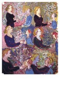 Charlotte Salomon (1917-1943) -Ruzie Charl.Paulinka- Postkaart