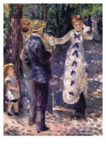 Pierre-Auguste Renoir (1841-19-De Schommel - La balancoire, 1876- Postkaart