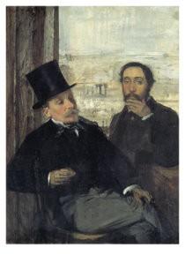 Edgar Degas (1834-1917) -Degas en zijn vriend Evariste Valernes - Degas et- Postkaart