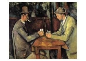 Paul Cezanne (1839-1906) -Kaartspelers - les joueurs des cartes, 1890/95- Postkaart
