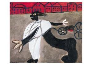 Constant Nieuwenhuys 1920-2005-Le guerre 1950- Postkaart