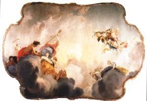 Jacob de Wit (1696-1754) -Apollo+vier seizoenen- Postkaart