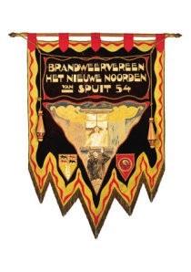 -Vaandel Rotterdamse brandweer- Postkaart