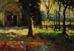 Raoul Hynckes (1893-1973) -Kerk Nieuwpo.detail- Postkaart