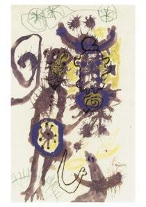 Lucebert (1924-1994) -Partisans 1951- Postkaart
