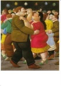 Fernando Botero (1932) -Dansers- Postkaart