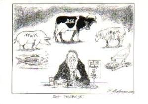 Fritz Behrendt (1925-2008) -Eet Smakelijk- Postkaart