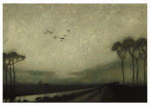 Jan Mankes (1889-1920) -Avondschemering- Postkaart