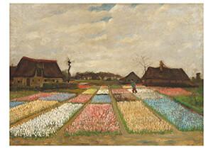 Vincent van Gogh (1853-1890) -Flower Beds in Holland / Bulb Fields, 1883- Postkaart