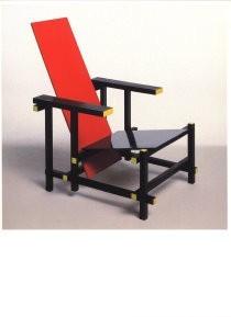 Gerrit Th. Rietveld (1888-1964-Rood-blauwe stoel- Postkaart