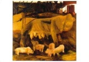 Constant Permeke (1886-1952) -De Zeug- Postkaart