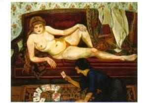 Suzanne Valadon (1865-1938) -De waarzegster- Postkaart