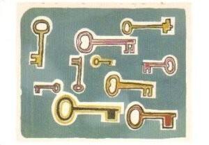 Klaas Gubbels (1934) -Sleutels- Postkaart