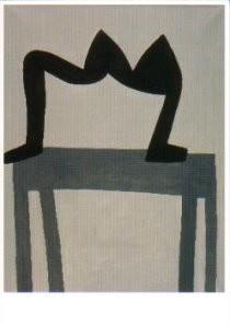 Klaas Gubbels (1934) -Figuur op tafel- Postkaart