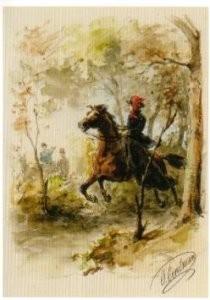 Otto Eerelman (1839-1926) -Scene uit het boek- Postkaart