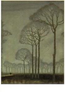 Jan Mankes (1889-1920) -Bomenrij- Postkaart