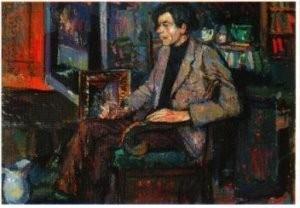 Kees Verwey (1900-1995) -Man in stoel- Postkaart