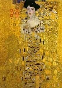 Gustav Klimt (1862-1918) -Portret van Adele Bloch-Bauer I- Postkaart