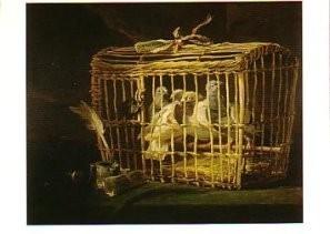 Philippe Rousseau (1816-1887) -Mand met postduiven- Postkaart