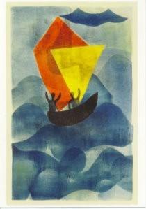 Hendrik Nic.Werkman (1882-1945-De tocht naar Jeruzalem- Postkaart