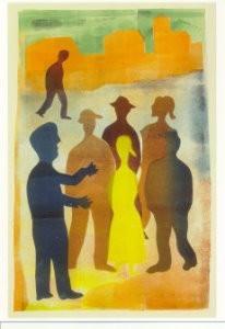 Hendrik Nic.Werkman (1882-1945-De vertelling op de markt- Postkaart