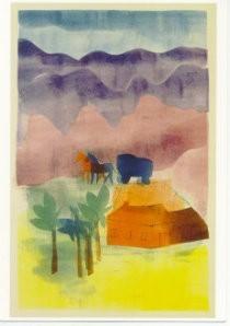 Hendrik Nic.Werkman (1882-1945-De herberg in de Karpathen- Postkaart