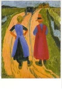 Jan Altink (1885-1971) -J. Altink/Na het bezoek- Postkaart