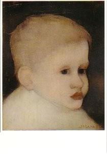Jan Mankes (1889-1920) -Kinderkopje- Postkaart