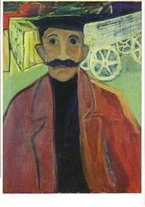 Hendrik Nic.Werkman (1882-1945-Voerman- Postkaart