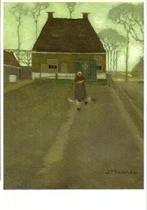 Jan Mankes (1889-1920) -Ouderlijk huis in Knijpe- Postkaart