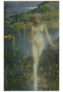Lucien Levy-Dhurmer 1865-1953)-Nocturne sur le Bosphore - Nachttafereel- Postkaart