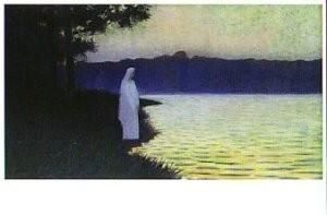 Alphonse Osbert (1857-1939) -Le calme de l,eau - Rustige wateren- Postkaart