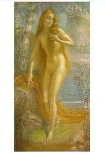 Armand Point (1861-1932) -Baigneuse - Baadster- Postkaart