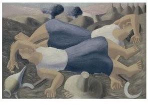 Ferdinand Erfmann (1901-1968) -De oogsters, 1937- Postkaart
