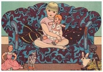 Ella Riemersma (1903-1993) -Uit: Het Verzenboek van Lijsje- Postkaart
